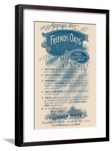 Reasons Why Friends' Oats Are the Best--Framed Art Print
