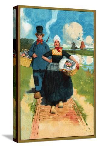 Sunlight Soap - Dutch Couple--Stretched Canvas Print