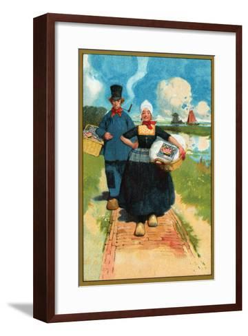Sunlight Soap - Dutch Couple--Framed Art Print