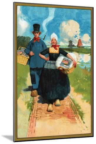Sunlight Soap - Dutch Couple--Mounted Art Print