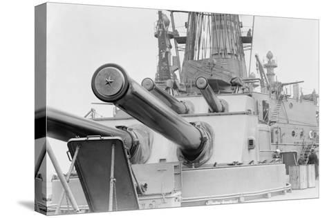 Naval Guns on the Battleship Michigan--Stretched Canvas Print