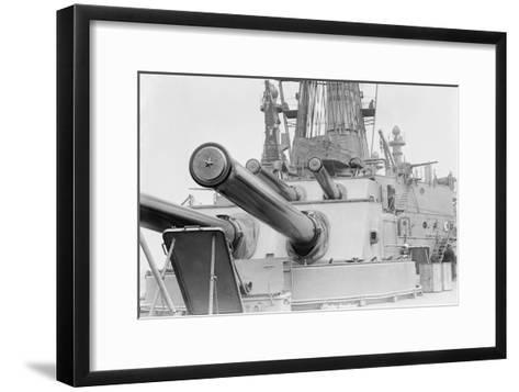 Naval Guns on the Battleship Michigan--Framed Art Print