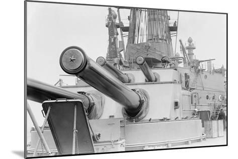 Naval Guns on the Battleship Michigan--Mounted Art Print