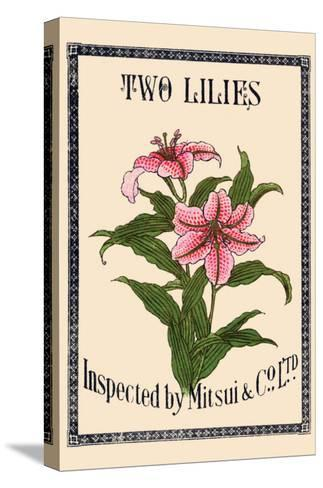 Two Lilies By Matsui--Stretched Canvas Print
