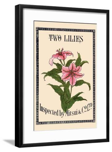 Two Lilies By Matsui--Framed Art Print