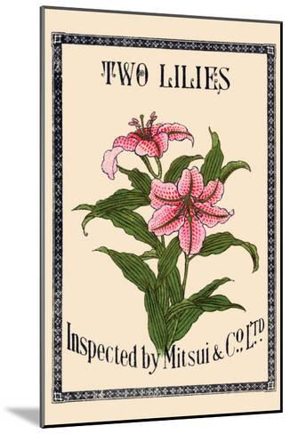 Two Lilies By Matsui--Mounted Art Print