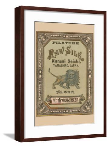 Filature Raw Silk Kamnsei Seishi, Yamashiro, Japan--Framed Art Print