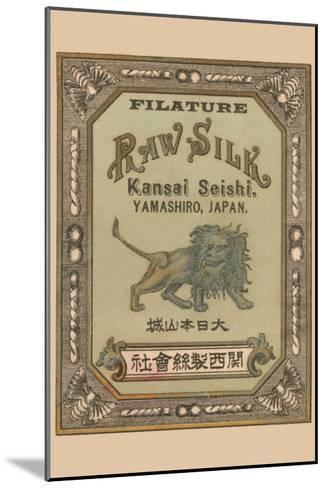 Filature Raw Silk Kamnsei Seishi, Yamashiro, Japan--Mounted Art Print