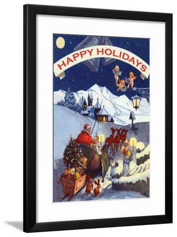 Happy Holidays--Framed Art Print