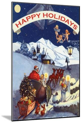 Happy Holidays--Mounted Art Print