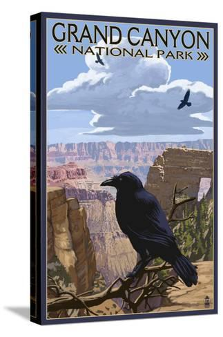 Grand Canyon National Park - Ravens and Angels Window-Lantern Press-Stretched Canvas Print