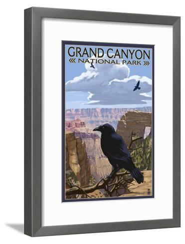 Grand Canyon National Park - Ravens and Angels Window-Lantern Press-Framed Art Print