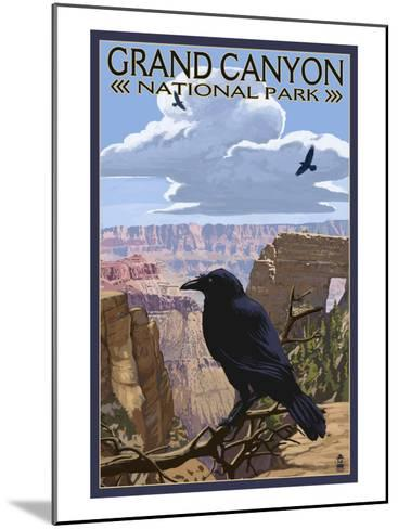 Grand Canyon National Park - Ravens and Angels Window-Lantern Press-Mounted Art Print