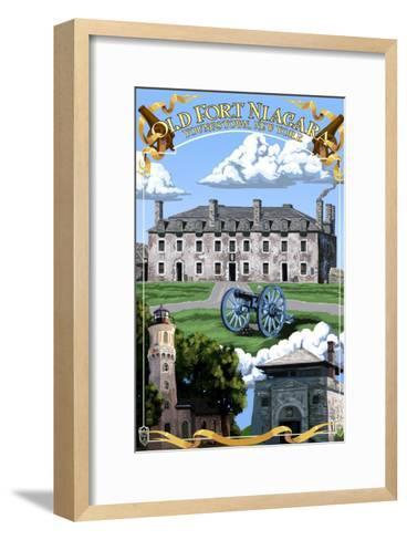 Old Fort Niagara - Youngstown, New York-Lantern Press-Framed Art Print