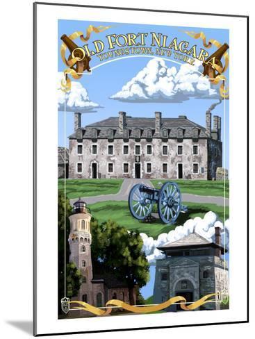 Old Fort Niagara - Youngstown, New York-Lantern Press-Mounted Art Print