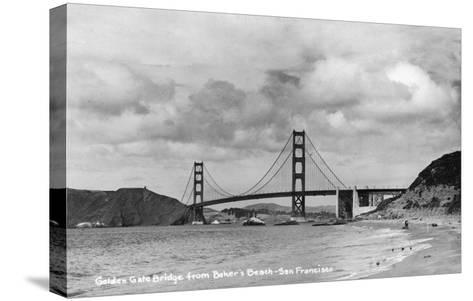 San Francisco, California - Golden Gate Bridge from Baker's Beach-Lantern Press-Stretched Canvas Print
