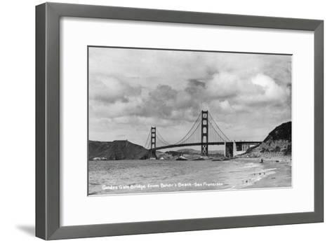 San Francisco, California - Golden Gate Bridge from Baker's Beach-Lantern Press-Framed Art Print