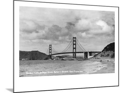 San Francisco, California - Golden Gate Bridge from Baker's Beach-Lantern Press-Mounted Art Print