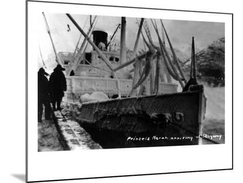 Skagway, Alaska - Princess Norah Ship Arriving-Lantern Press-Mounted Art Print