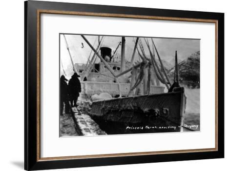 Skagway, Alaska - Princess Norah Ship Arriving-Lantern Press-Framed Art Print