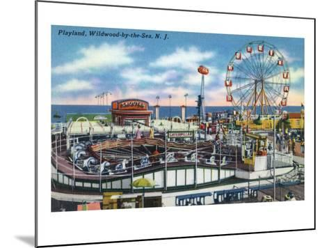 Wildwood-by-the-Sea, New Jersey - View of Playland Amusement Park-Lantern Press-Mounted Art Print