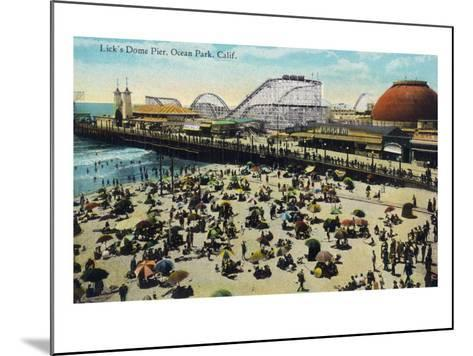 Ocean Park, California - View of Lick's Dome Pier-Lantern Press-Mounted Art Print