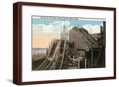 Revere Beach, Massachusetts - View of Derby Racer-Lantern Press-Framed Art Print