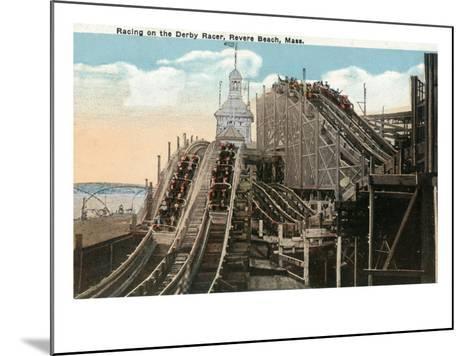 Revere Beach, Massachusetts - View of Derby Racer-Lantern Press-Mounted Art Print