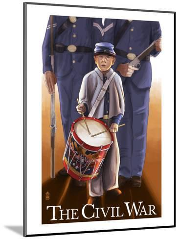 Americam Civil War - Drummer Boy-Lantern Press-Mounted Art Print
