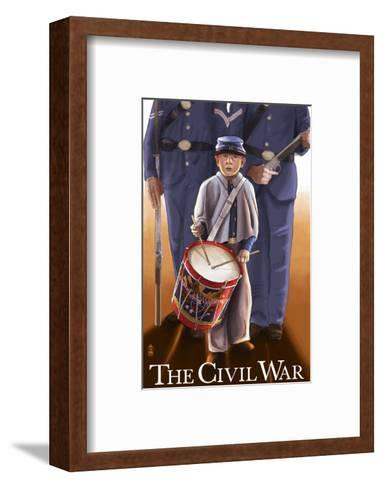 Americam Civil War - Drummer Boy-Lantern Press-Framed Art Print