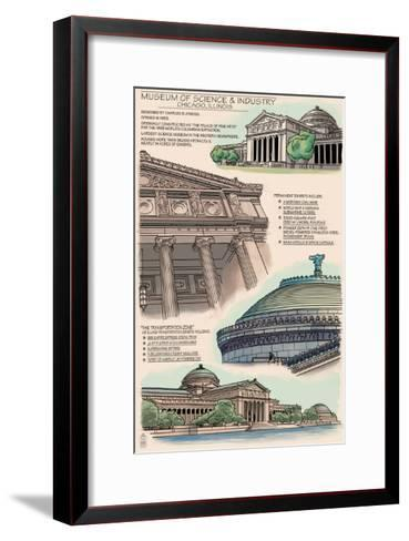 Museum of Science and Industry Technical - Chicago, IL-Lantern Press-Framed Art Print