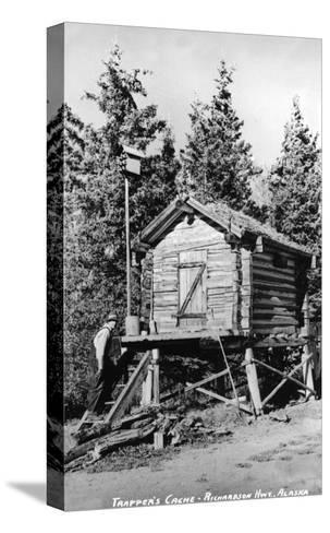 Alaska - Richardson Hwy; A Trapper's Cache-Lantern Press-Stretched Canvas Print