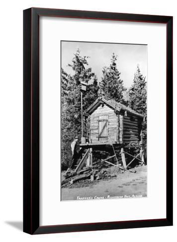 Alaska - Richardson Hwy; A Trapper's Cache-Lantern Press-Framed Art Print