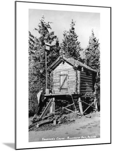 Alaska - Richardson Hwy; A Trapper's Cache-Lantern Press-Mounted Art Print