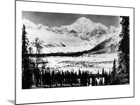 Alaska - Mt McKinley and Mt Foraka-Lantern Press-Mounted Art Print