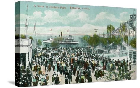 Toronto, Ontario - Hanlans Point Scene-Lantern Press-Stretched Canvas Print