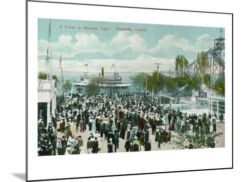 Toronto, Ontario - Hanlans Point Scene-Lantern Press-Mounted Art Print