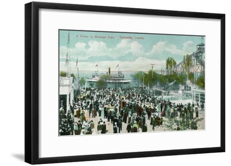 Toronto, Ontario - Hanlans Point Scene-Lantern Press-Framed Art Print