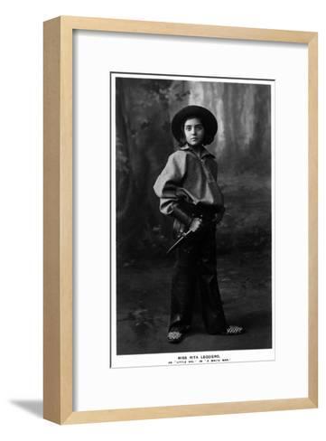 Cowgirl Portrait - Miss Rita Leggiero Holding a Knife-Lantern Press-Framed Art Print