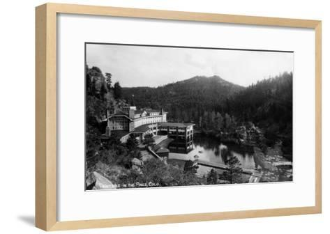 Evergreen, Colorado - Troutdale-in-the-Pines Resort-Lantern Press-Framed Art Print