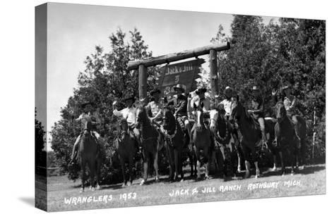 Rothbury, Michigan - Wranglers at the Jack and Jill Ranch-Lantern Press-Stretched Canvas Print
