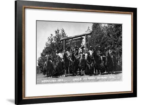 Rothbury, Michigan - Wranglers at the Jack and Jill Ranch-Lantern Press-Framed Art Print