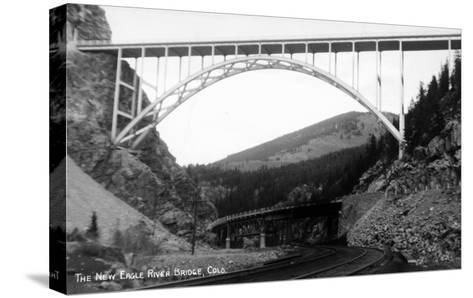 Colorado - New Eagle River Bridge near Red Cliff-Lantern Press-Stretched Canvas Print