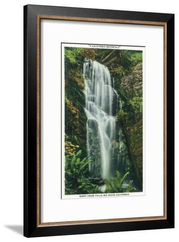 Big Basin, California - Berry Creek Falls Scene-Lantern Press-Framed Art Print