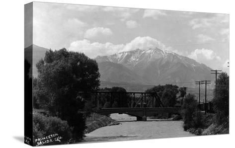 Salida, Colorado - View of Mt Princeton-Lantern Press-Stretched Canvas Print