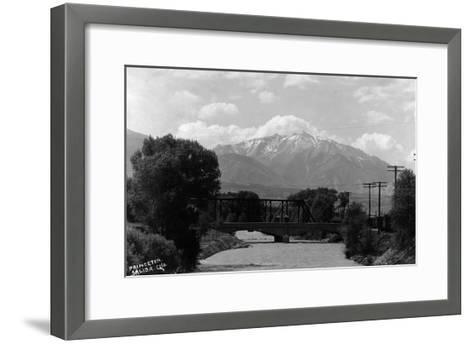 Salida, Colorado - View of Mt Princeton-Lantern Press-Framed Art Print