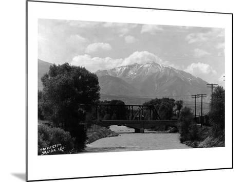 Salida, Colorado - View of Mt Princeton-Lantern Press-Mounted Art Print