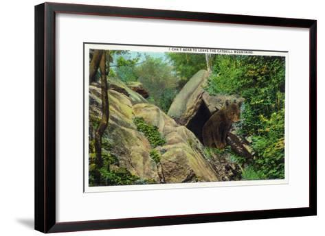 New York - Bear in the Catskill Mountains-Lantern Press-Framed Art Print