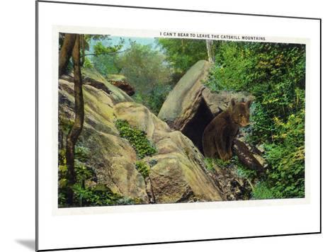 New York - Bear in the Catskill Mountains-Lantern Press-Mounted Art Print