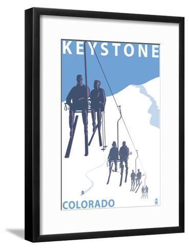 Keystone, Colorado Ski Lift-Lantern Press-Framed Art Print